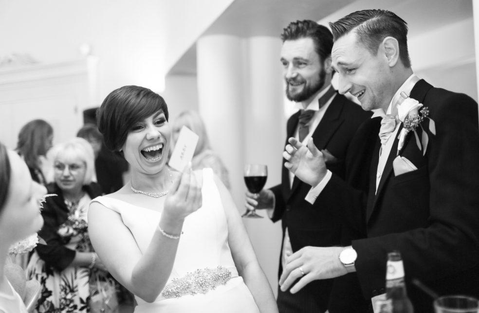 Bride and groom shocked